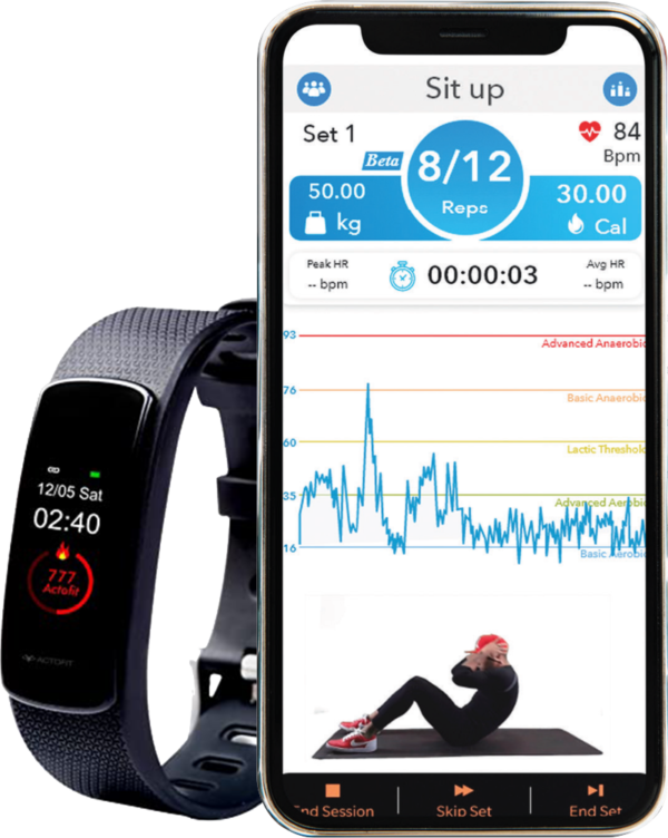 workout tracking with actofit impulse